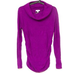 Liz Lange Maternity Sweater S Ruched Womens Cowl